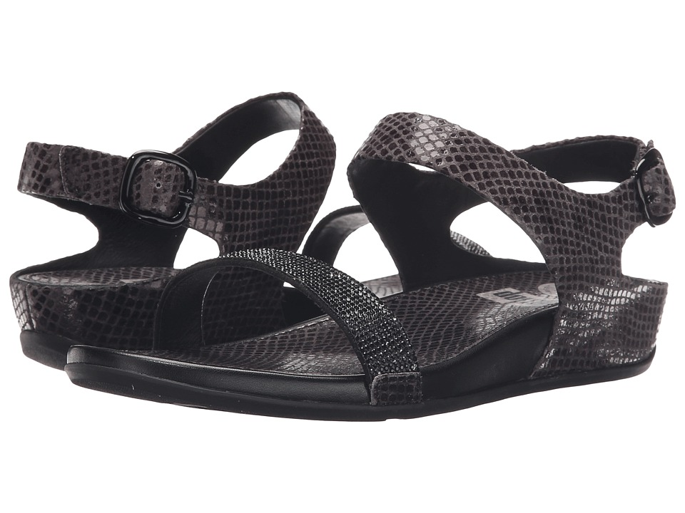 FitFlop - Banda Crystal Snake Sandal (Black) Women's Sandals