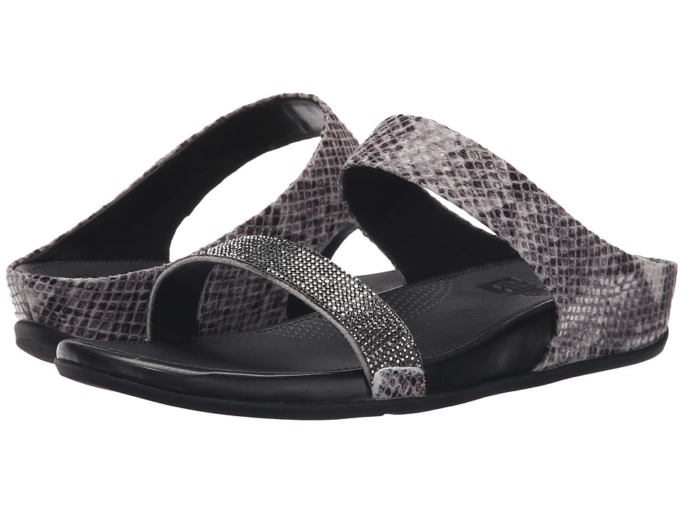FitFlop - Banda Crystal Snake Slide (Mink) Women's Sandals