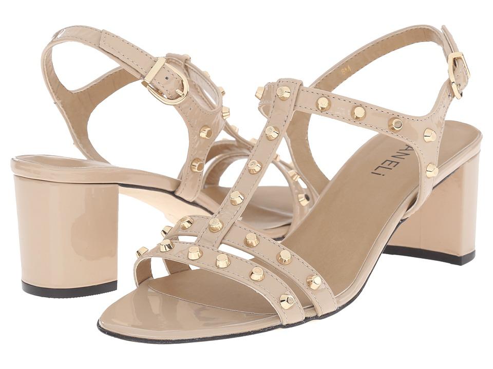 Vaneli - Mette (Nude Smack Patent/Gold Flat Cones) Women's Sandals