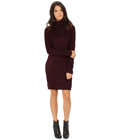 Calvin Klein - Pop Over Sweater Dress (Aubergine) Women