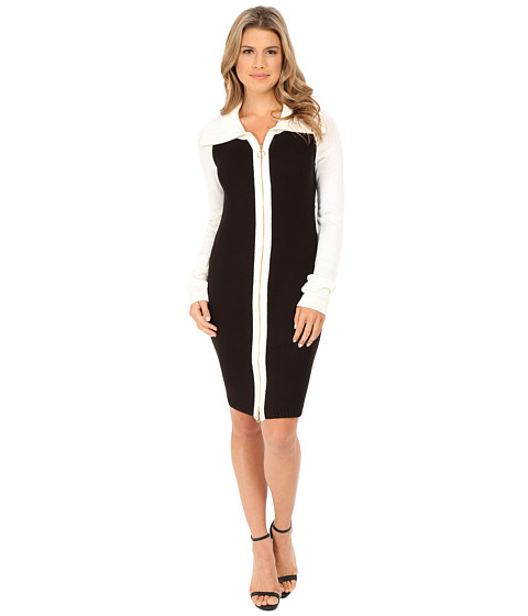 cae518bf65 ... UPC 788627702131 product image for Calvin Klein - Color Block Sweater  Dress (Black Winter