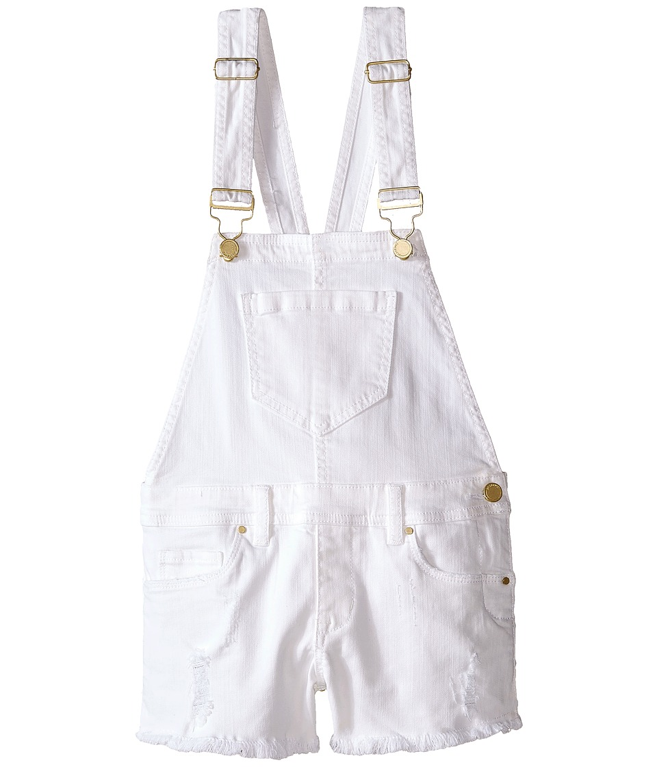 Blank NYC Kids - Shortall in White Lines (Big Kids) (White Lines) Girl's Overalls One Piece