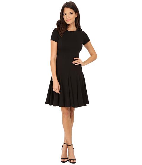 Calvin Klein - Cap Sleeve Fit Flare Dress (Black) Women's Dress