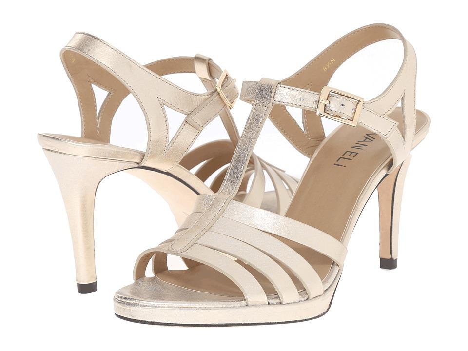 Vaneli - Titan (Platino Witty Met/Gold Buckle) High Heels