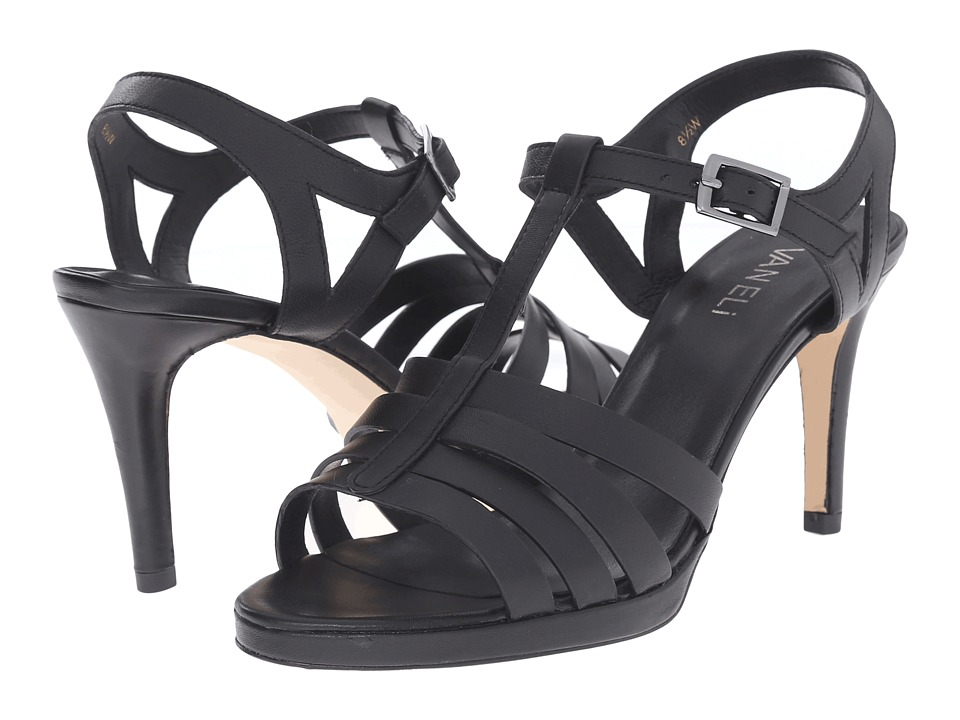 Vaneli - Titan (Black Nappa/Gunmetal Buckle) High Heels