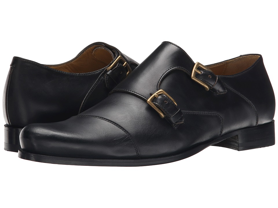 Billy Reid - Leather Double Monk Strap (Black) Men