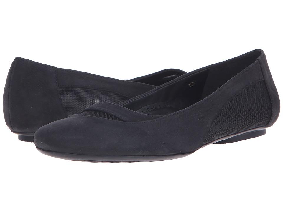 Vaneli - Shirin (Black Soft Nabuk/Black Mesh) Women's Flat Shoes