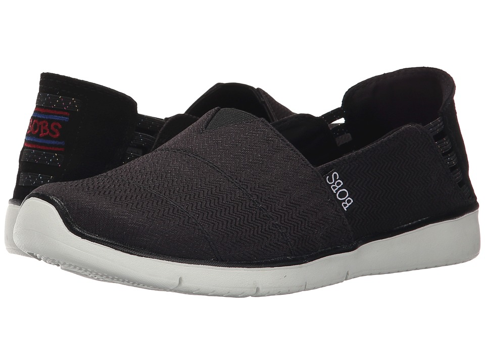 BOBS from SKECHERS - Pureflex 2 (Black) Women's Slip on Shoes