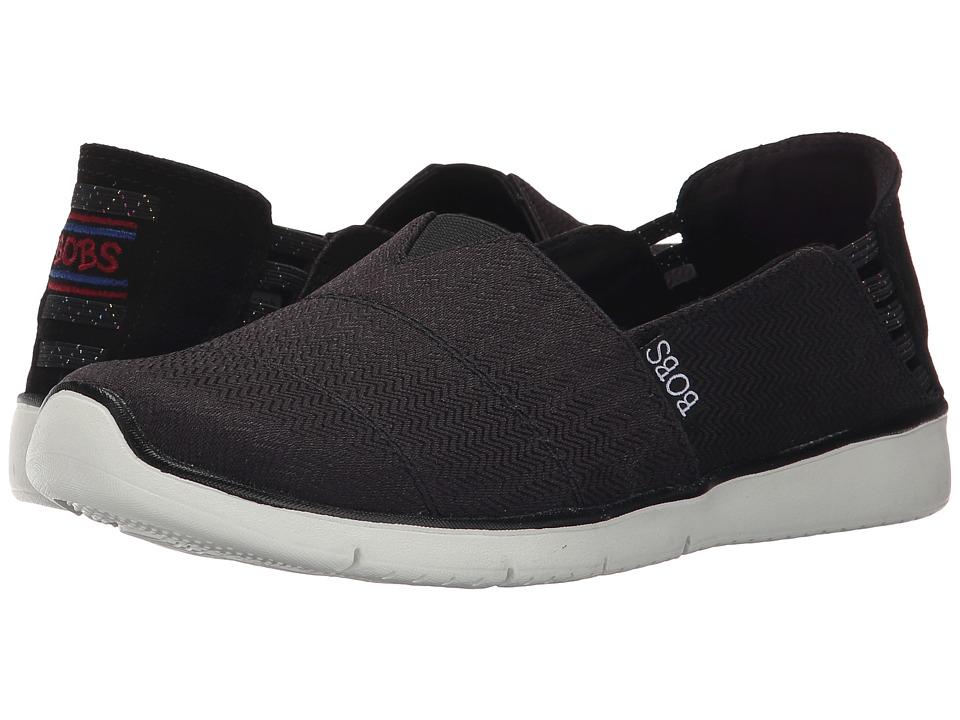 BOBS from SKECHERS - Pureflex 2 (Black) Women's Slip on Shoes