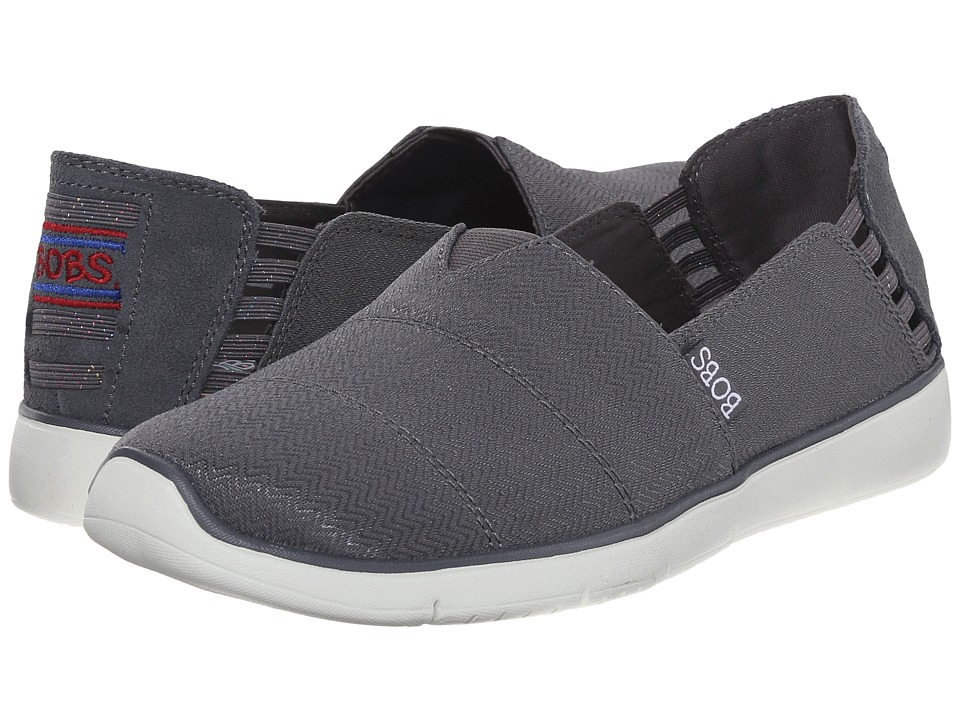 BOBS from SKECHERS - Pureflex 2 (Charcoal) Women's Slip on Shoes