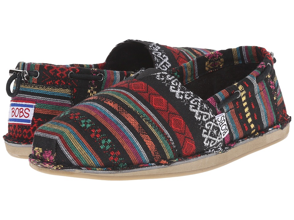 BOBS from SKECHERS - Bobs Chill - Warrior Princess (Black/Multi) Women's Slip on Shoes