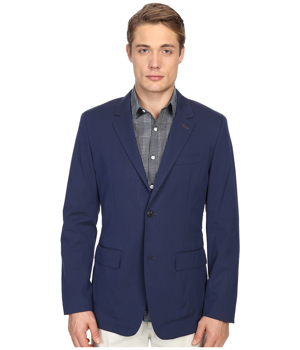 Jack Spade - Light Weight Cotton Blazer (Insignia Blue) Men's Jacket