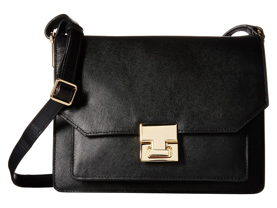 Ivanka Trump - Hopewell Shoulder Flap (Black) Cross Body Handbags