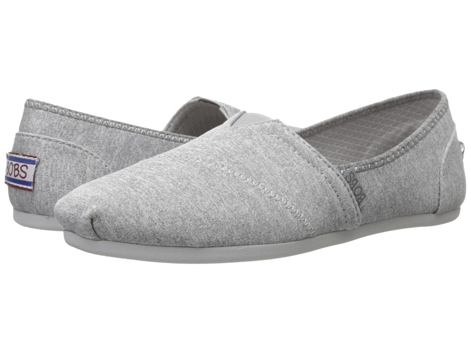 BOBS from SKECHERS - Bobs Plush - Express Yourself (Gray) Women's Slip on Shoes