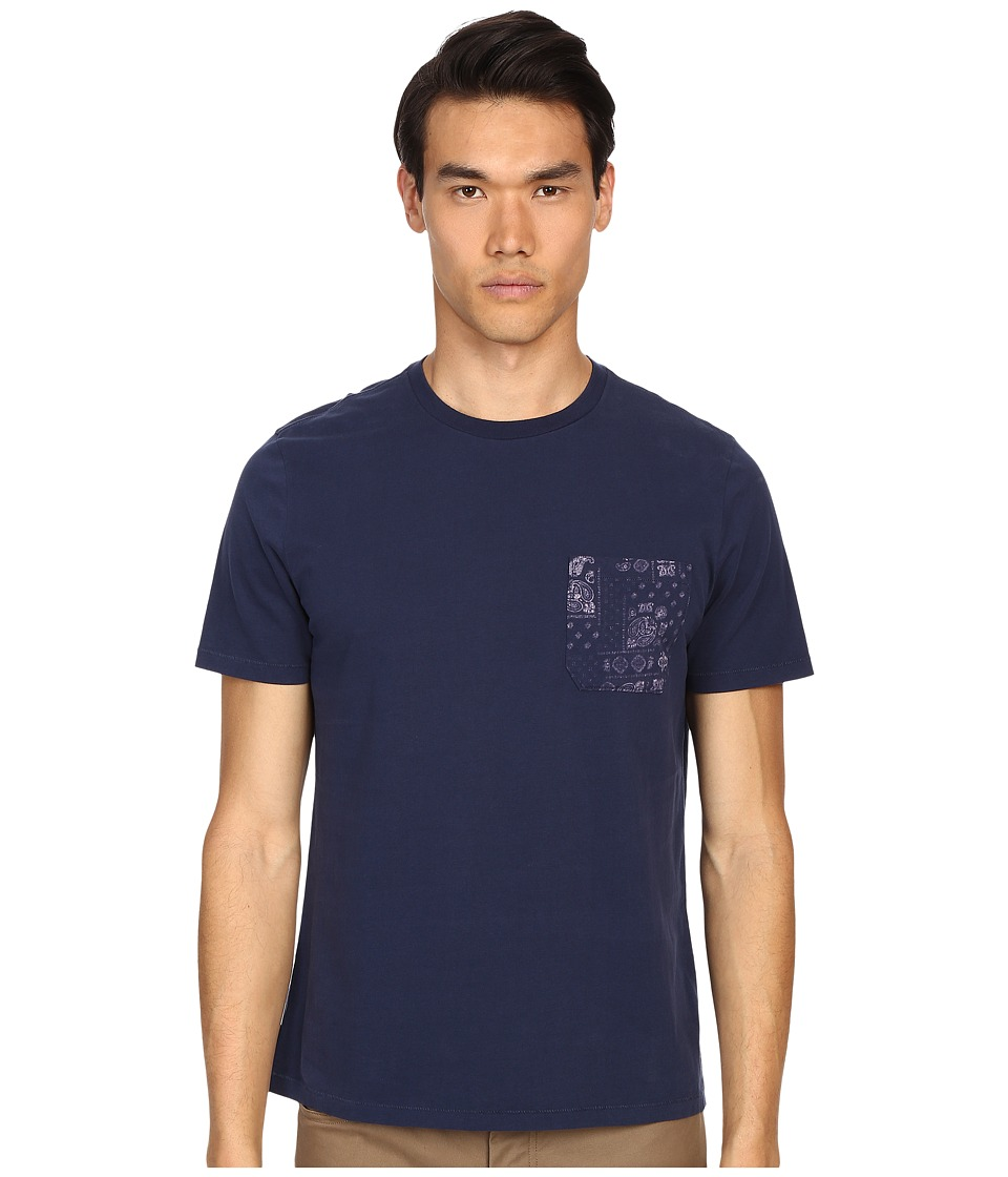 Jack Spade - Bandana Tee (Navy) Men's T Shirt