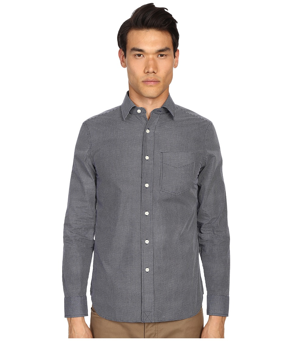 Jack Spade - Grant Point Collar Dot Print (Blue) Men's Long Sleeve Button Up