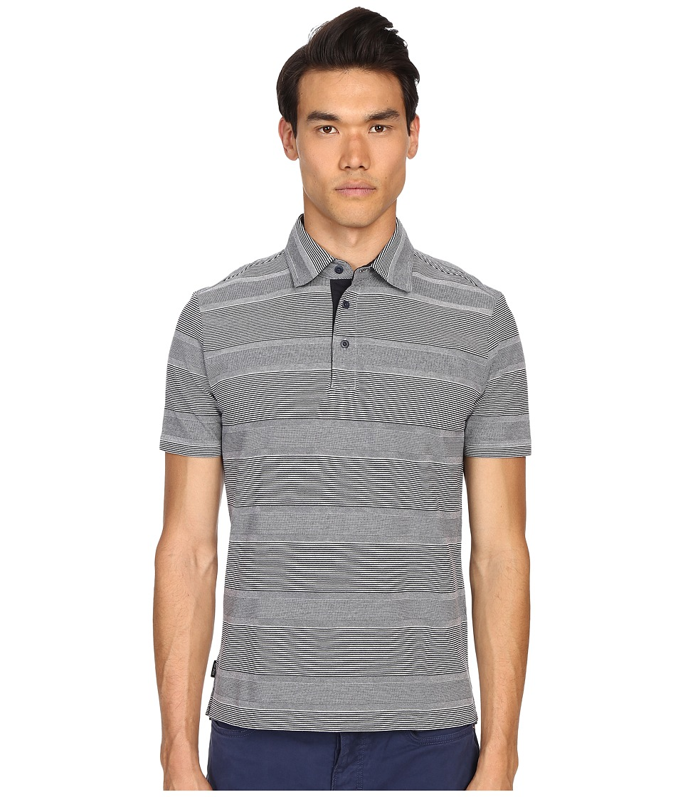 Jack Spade - Keaton Striped Polo (Off-White) Men's Short Sleeve Knit