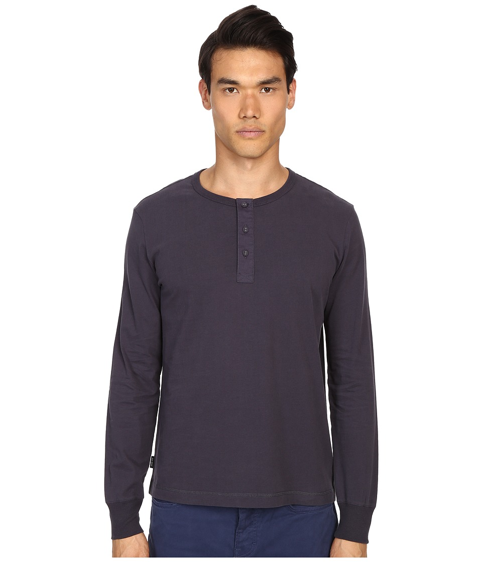 Jack Spade Sueded Long Sleeve Henley (Navy) Men