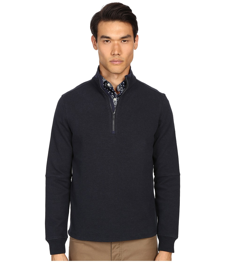 Jack Spade - Midweight Bike Jersey (Heather Navy) Men's Sweater
