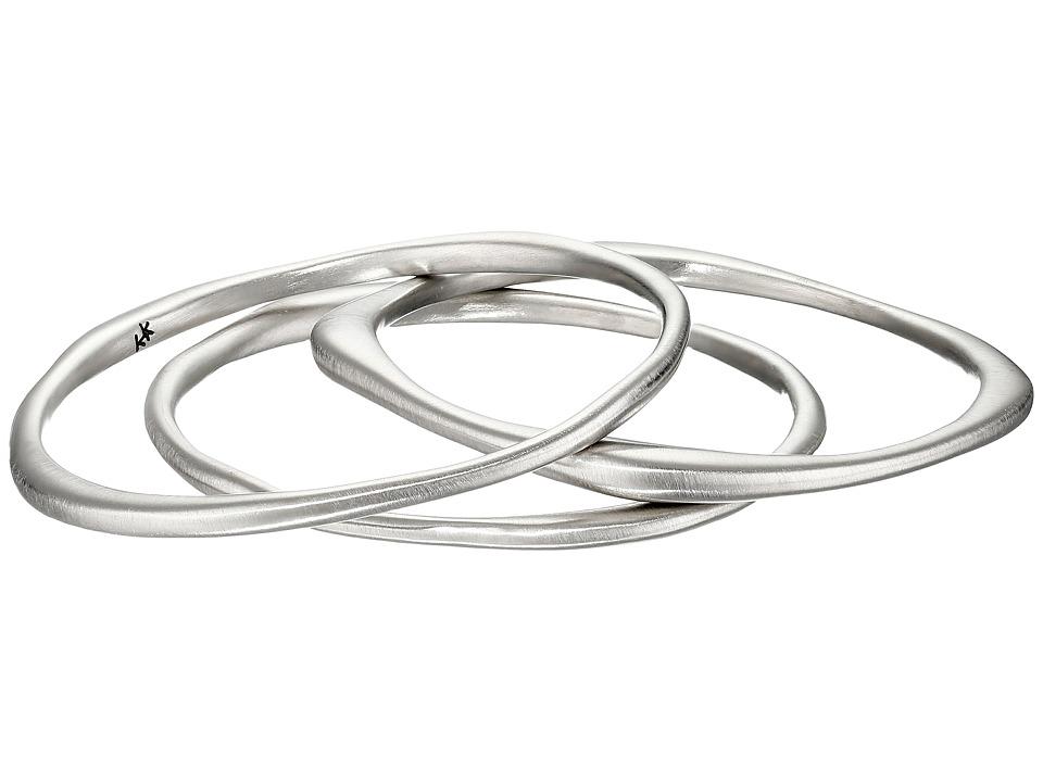 Karen Kane - New Moon Stack Bangles Bracelet (Silver) Bracelet
