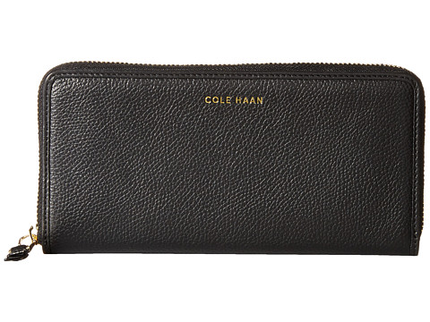 Cole Haan - Benson Continental Zip Wallet (Black) Wallet Handbags