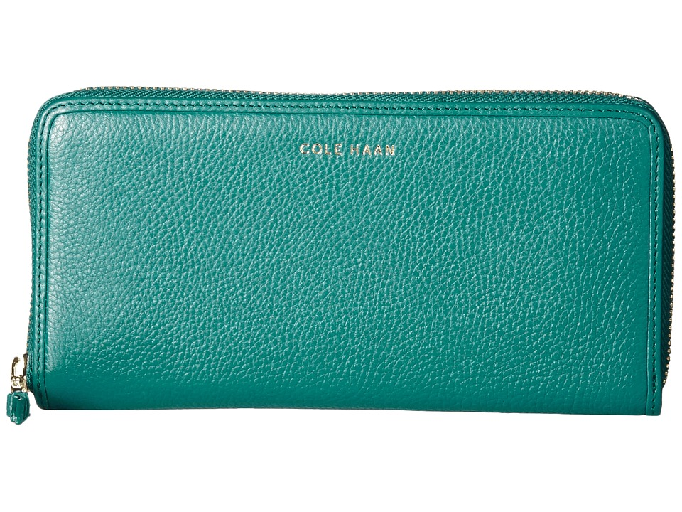 Cole Haan - Benson Continental Zip Wallet (Ernest Teal) Wallet Handbags