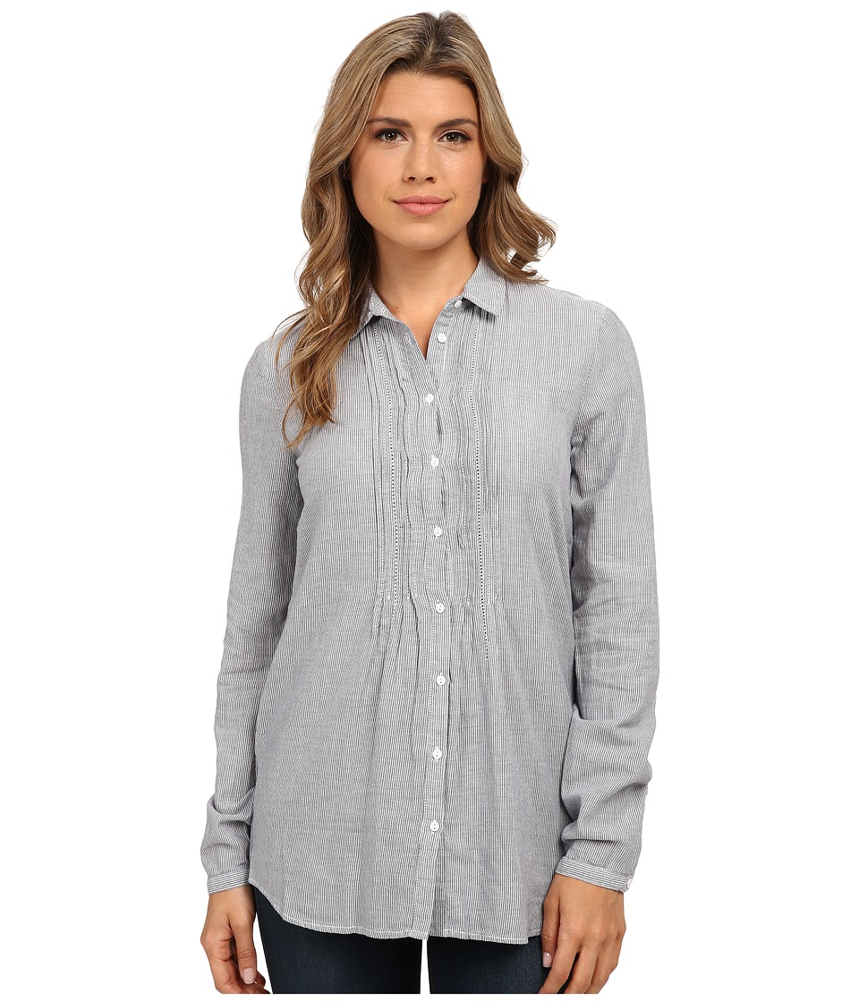 Mavi Jeans - Pintuck Shirt (Deep Blue) Women's Clothing
