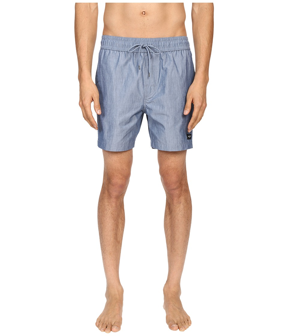 Jack Spade - Chambray Grannis Swim Trunks (Blue) Men's Swimwear