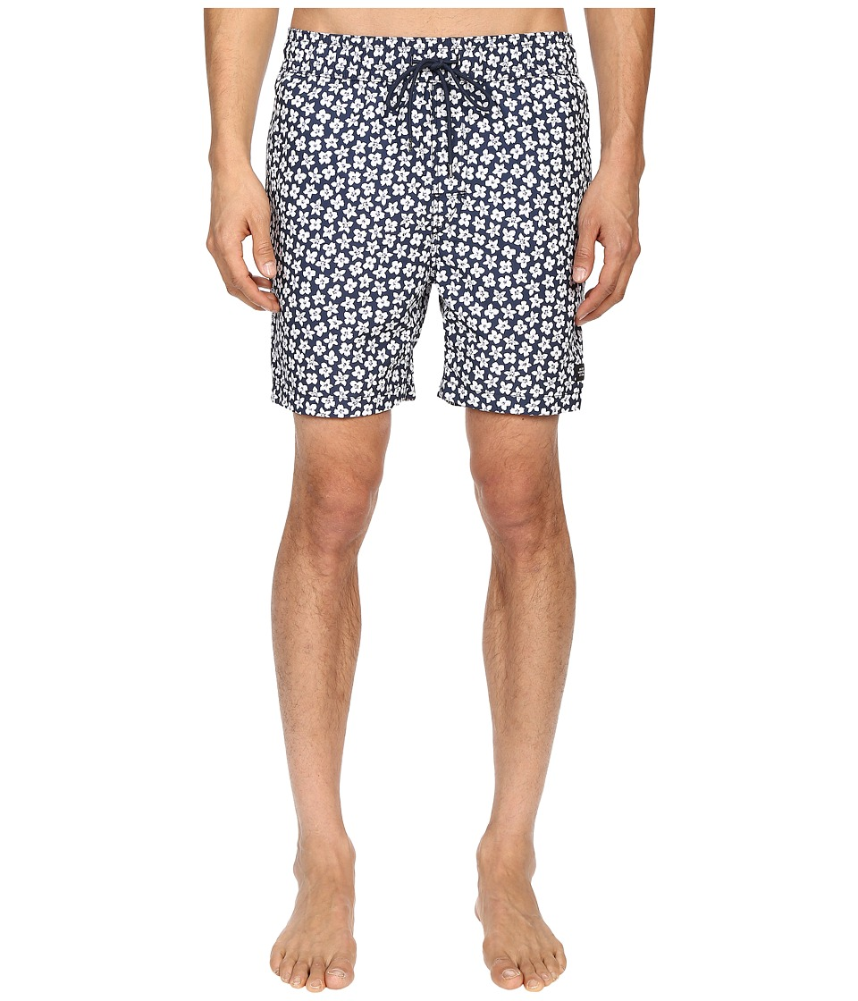 Jack Spade - Floral Grannis Swim Trunks (Navy) Men's Swimwear