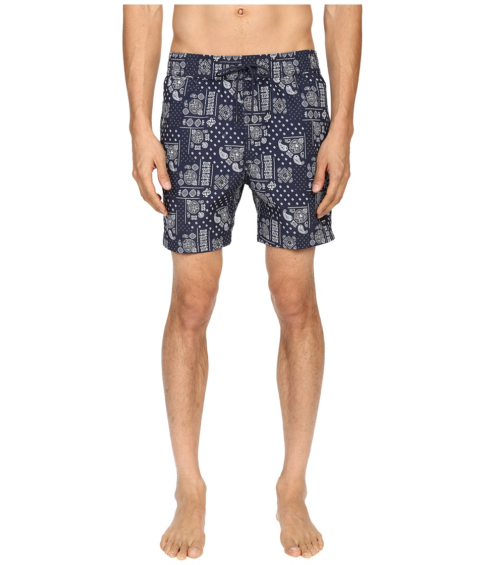 Jack Spade Bandana Grannis Swim Trunks (Navy) Men