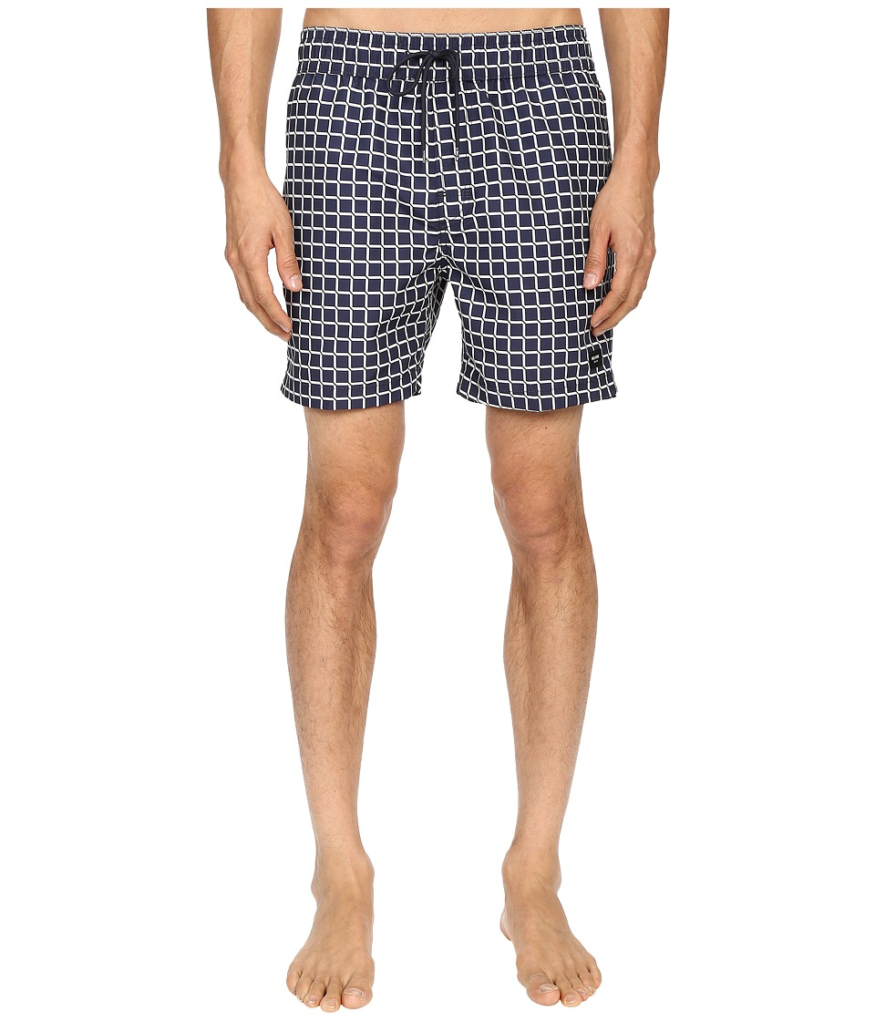 Jack Spade - Broken Graph Grannis Swim Trunks (Navy) Men's Swimwear