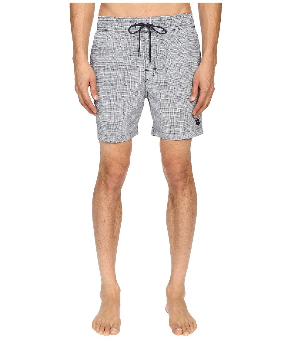 Jack Spade - Underwater Graph Grannis Swim Trunks (Navy) Men's Swimwear