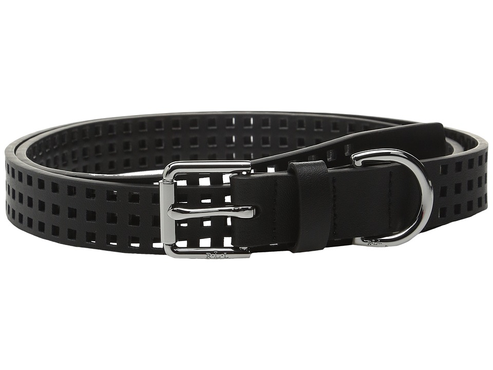 LAUREN Ralph Lauren - Sutton 1 Perf with Roller Buckle (Black) Women's Belts