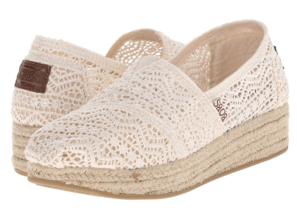 BOBS from SKECHERS - Highlights - Amaze (Natural) Women's Slip on Shoes