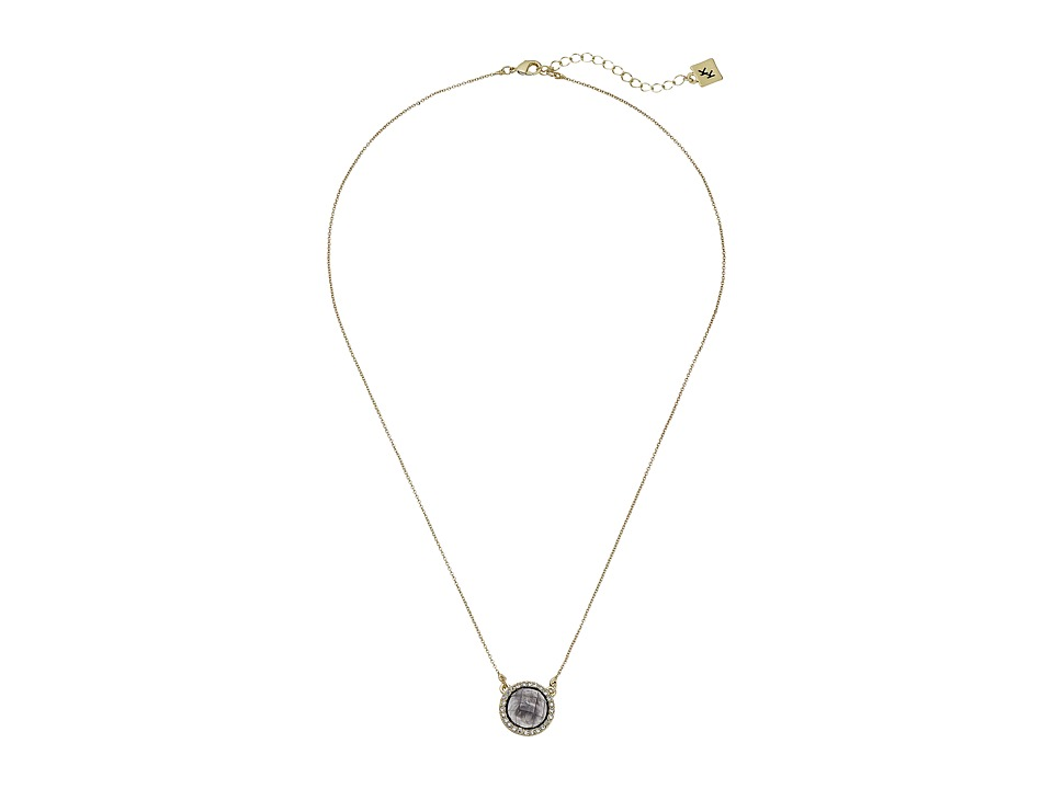 Karen Kane - Everbloom Eternity Pendant Necklace (Grey) Necklace