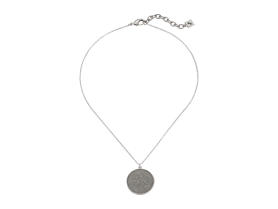 Karen Kane - Starry Disc Pendant Necklace (Silver) Necklace