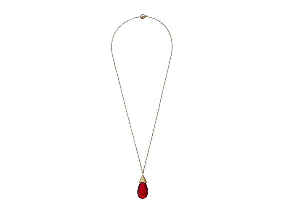 Karen Kane - Sunset Fields Long Pendant Necklace (Red) Necklace