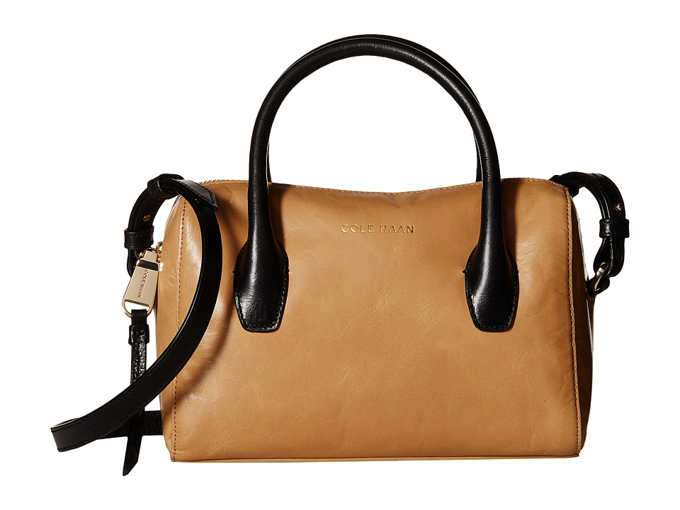 Cole Haan - Isabella II Mini Satchel (Tan/Black) Satchel Handbags