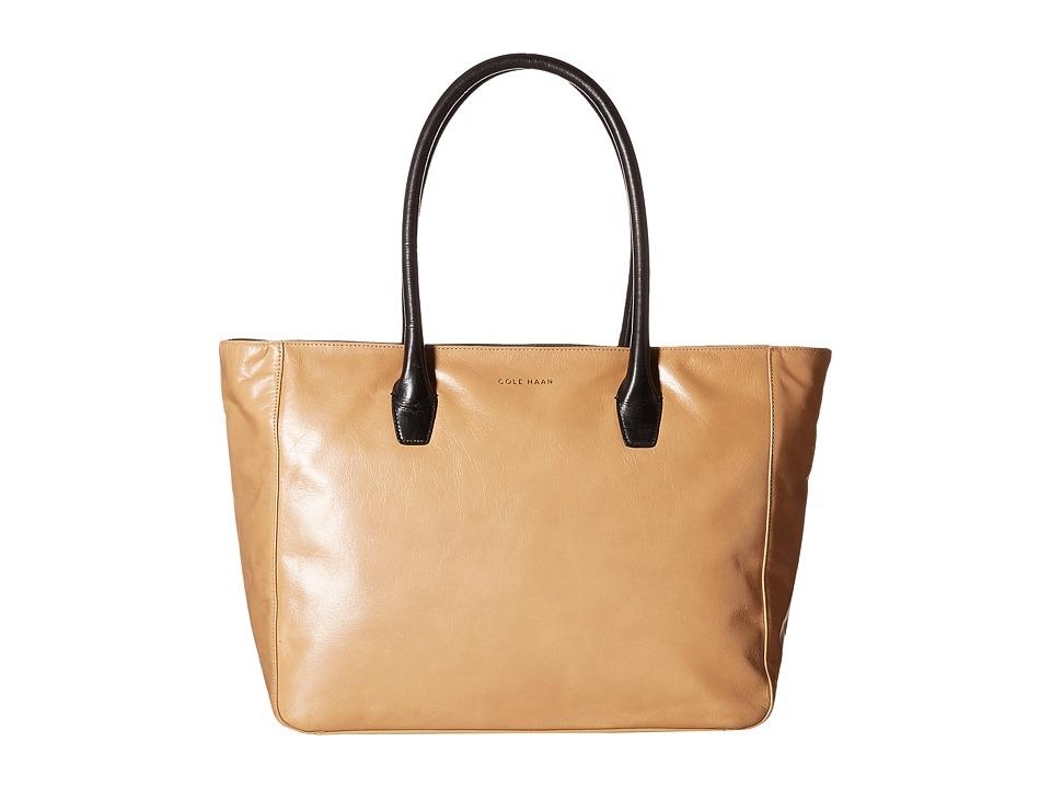 Cole Haan - Isabella II Tote (Tan/Black) Tote Handbags