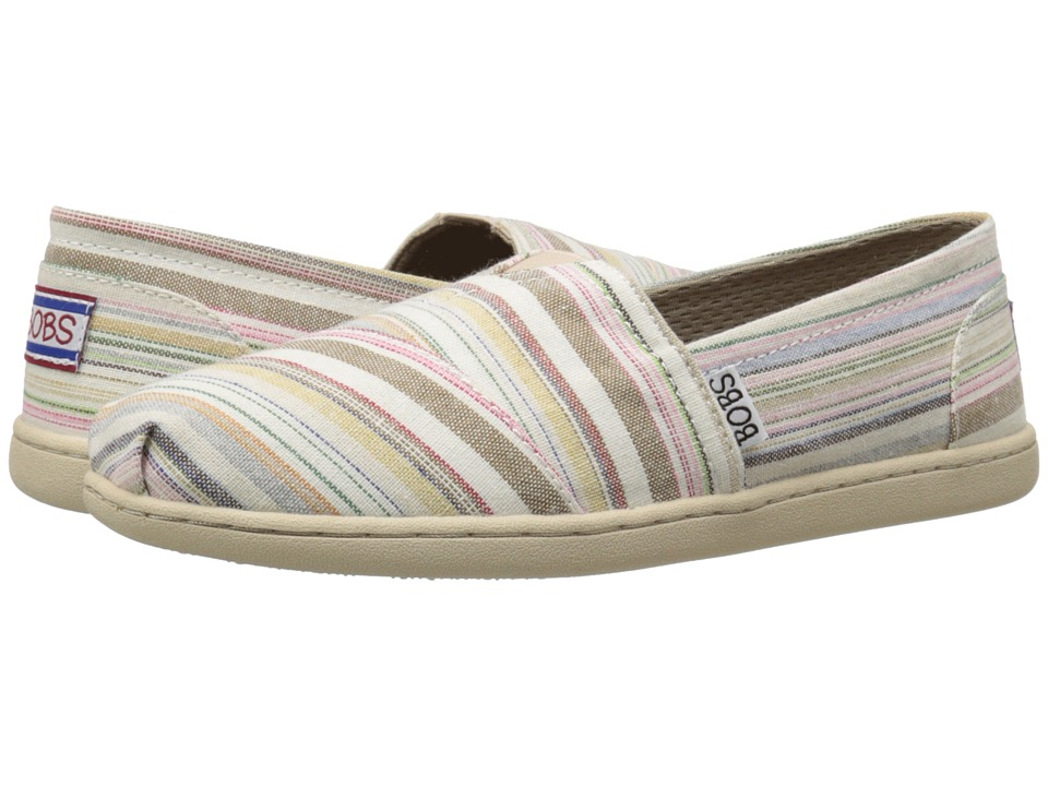 BOBS from SKECHERS - Bobs Bliss - Open Heart (Natural/Multi) Women's Slip on Shoes