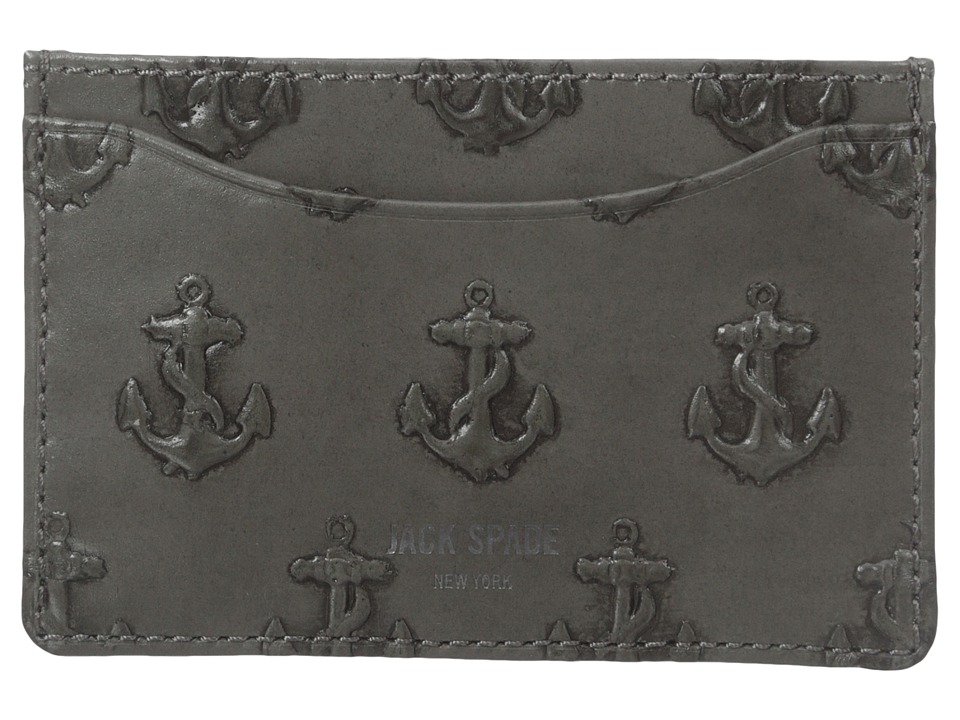 Jack Spade - Embossed Anchor Credit Card Holder (Grey) Credit card Wallet