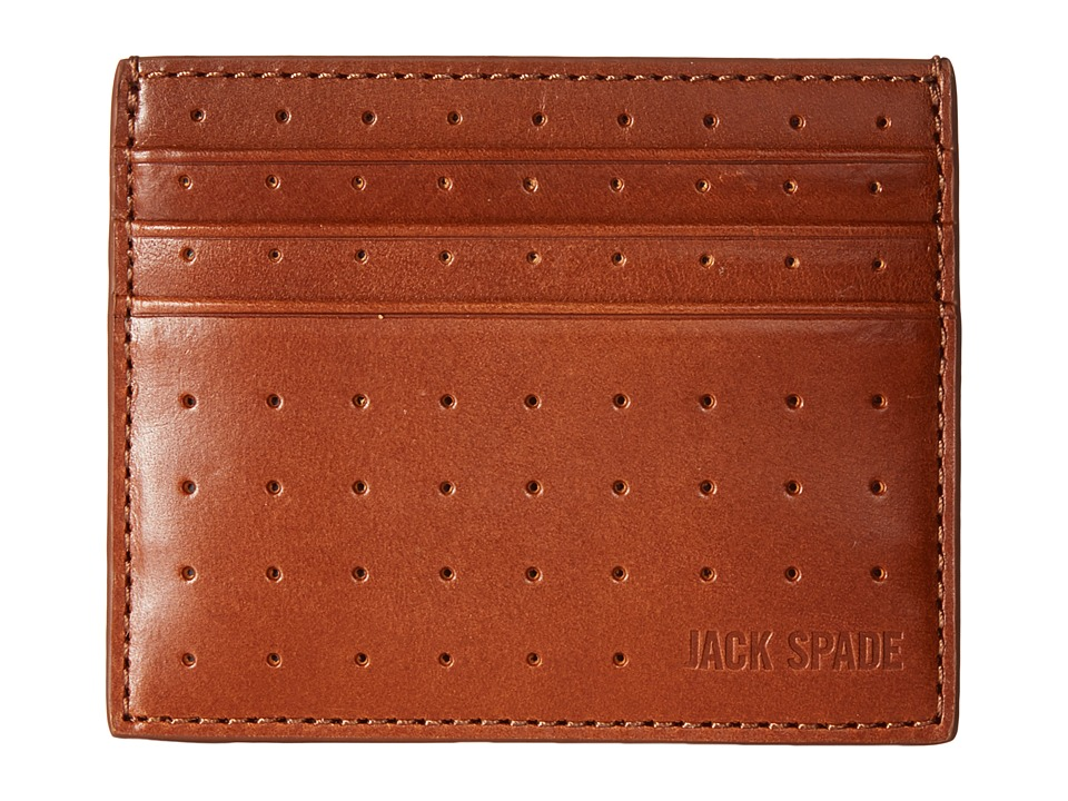 Jack Spade - 610 Leather 6 Card Holder (Tobacco) Credit card Wallet