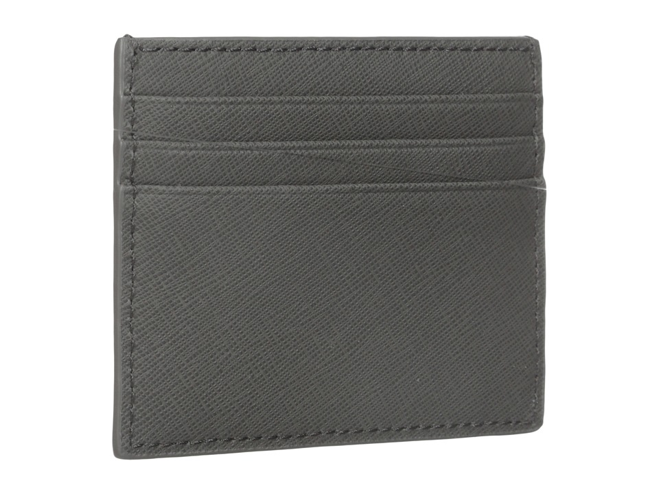Jack Spade - Barrow Leather Six Card Holder (Grey) Credit card Wallet