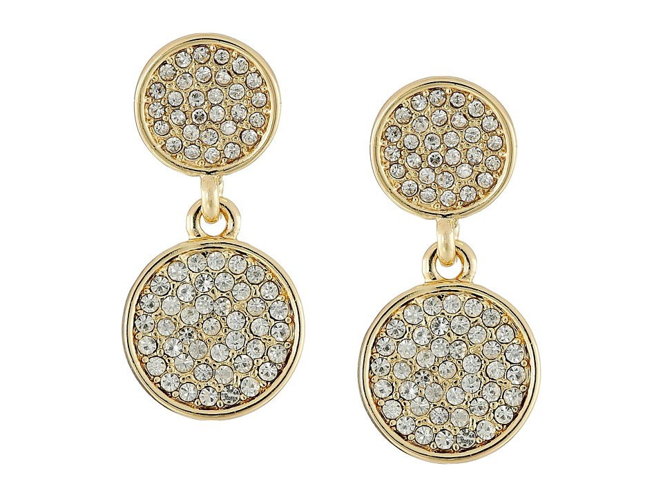 Karen Kane - Starry Disc Double Drop Earrings (Gold) Earring