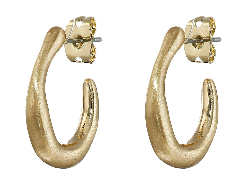 Karen Kane - New Moon Huggie Earrings (Gold) Earring