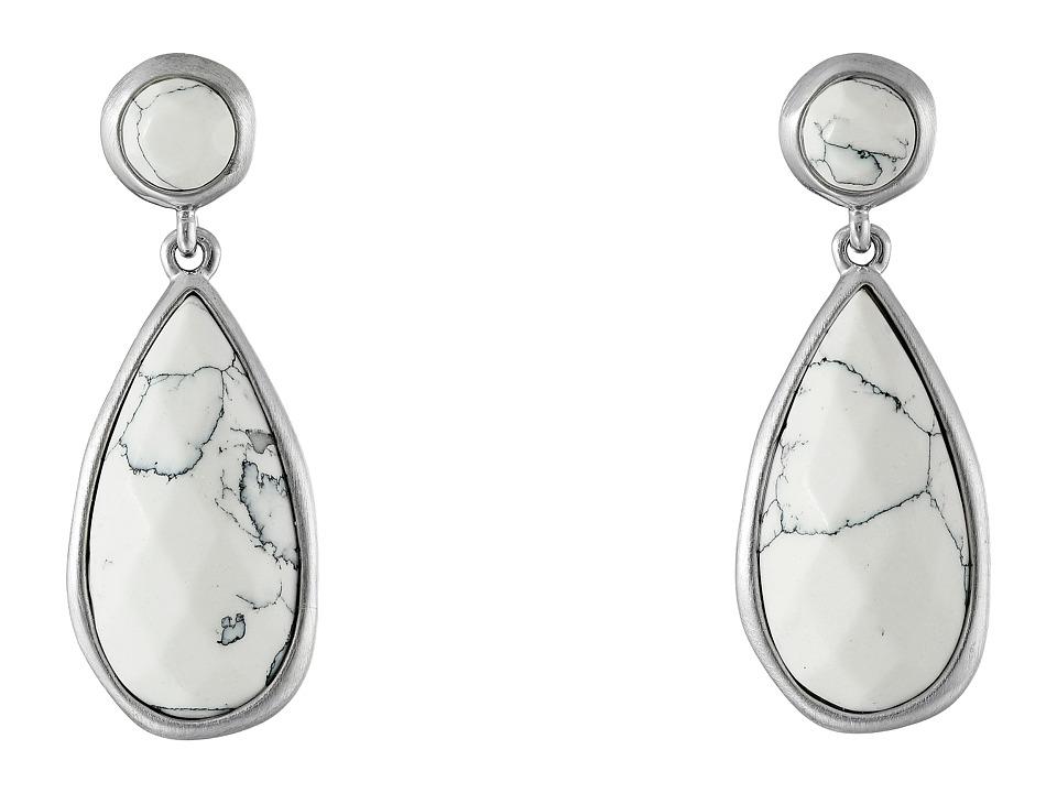 Karen Kane - Tranquil Water Teardrop Earrings (White) Earring