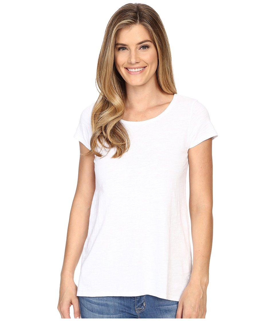 Mod-o-doc - Slub Jersey Back Rib Vented Tee (White) Women's T Shirt