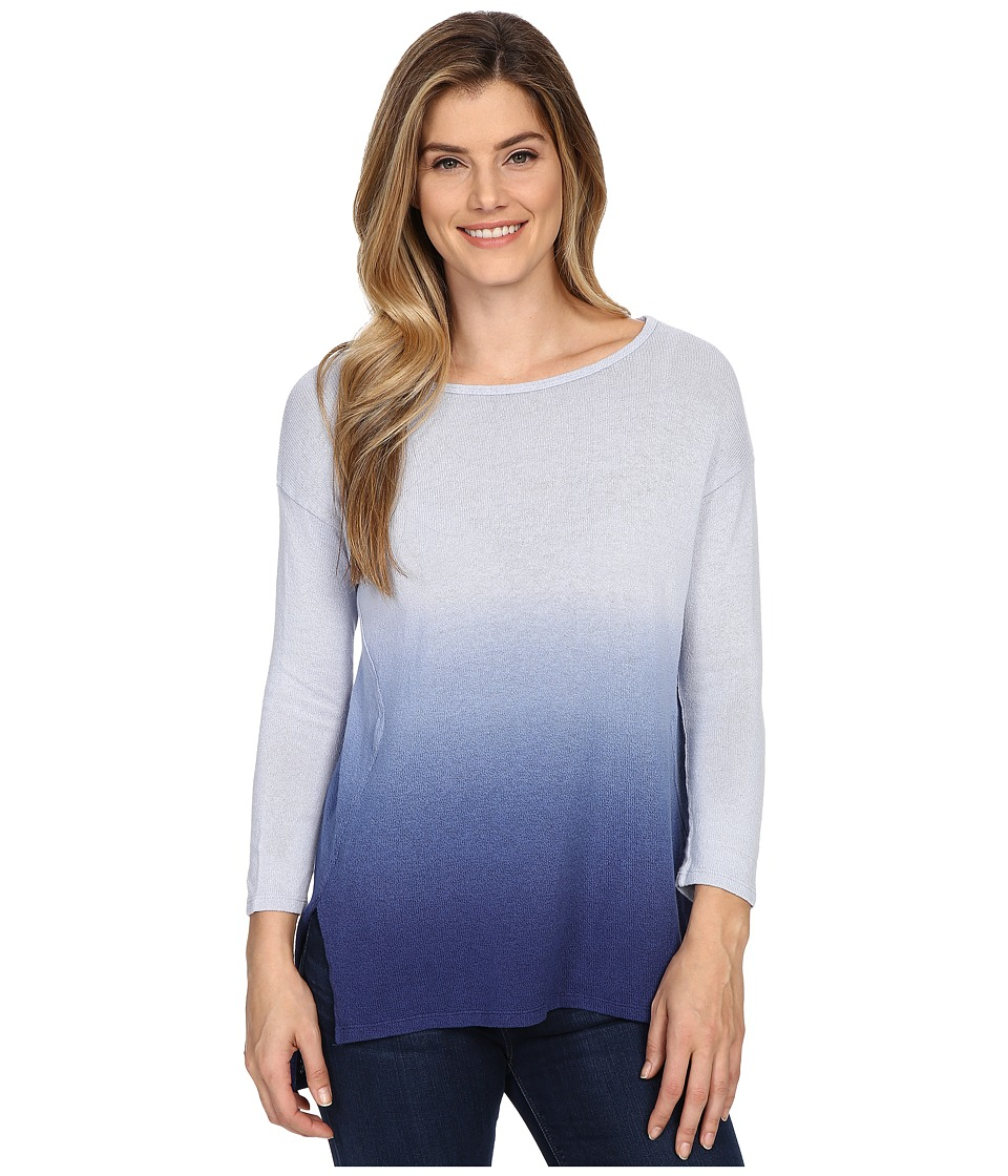 Mod-o-doc - Textured Sweater Knit Dip Dye Dip Dye Fwd Seam Pullover (Inkwell) Women's Sweater