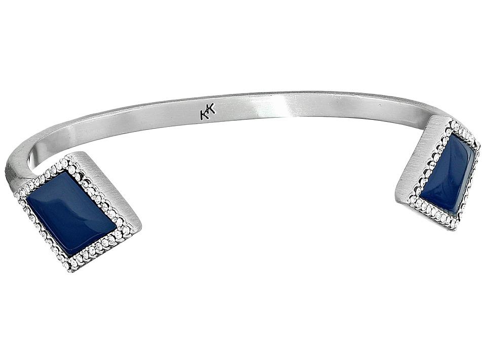 Karen Kane - Diamante Cuff Bracelet (Blue) Bracelet
