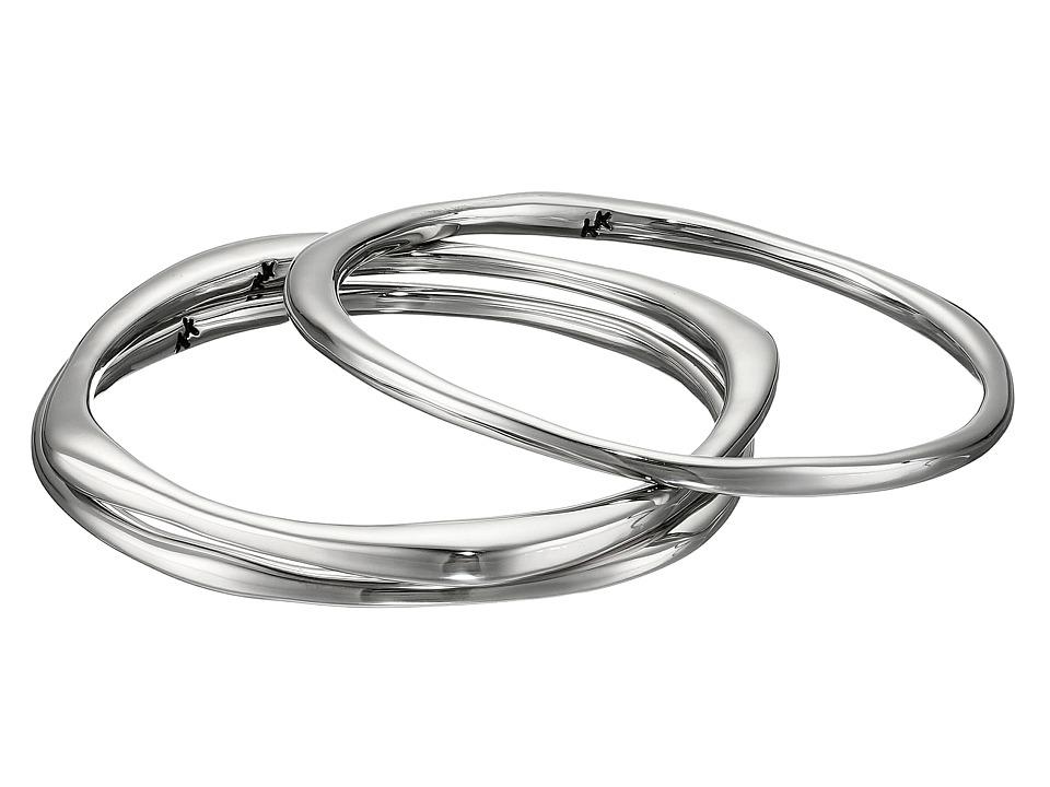 Karen Kane - New Moon Stack Bangles Bracelet (Silver 1) Bracelet